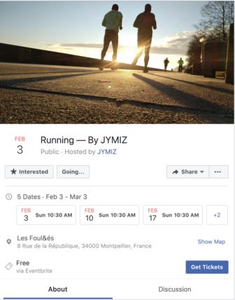 Evenement facebook pour Jymiz
