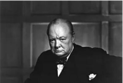 Portrait de Winston Churchill