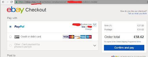 Paypal's integration on Ebay website