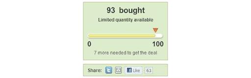 Objectif de vente Groupon pour obtenir un coupon